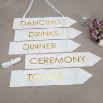 Scripted Marble Wedding Signs (5)